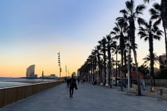 BEAUTIFUL SUNSET IN BARCELONA