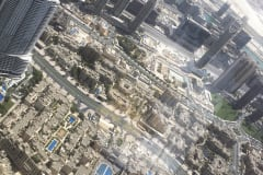 VIEW FROM BURJ KHALIFA